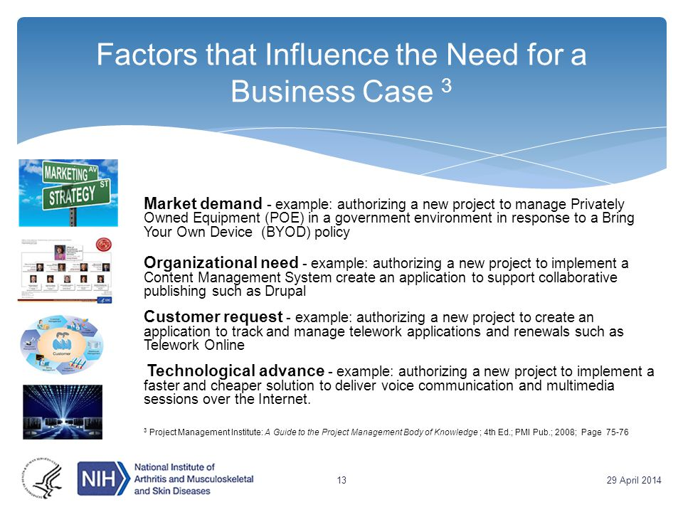 Factors that Influence the Need for a Business Case 3