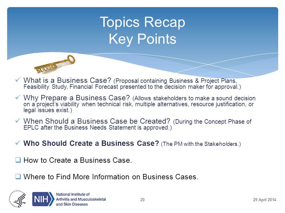 Topics Recap Key Points