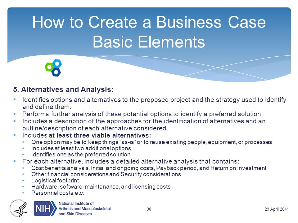 How to Create a Business Case Basic Elements