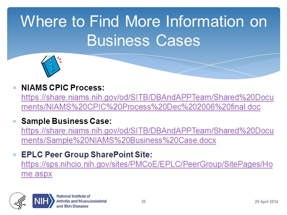 Where to Find More Information on Business Cases