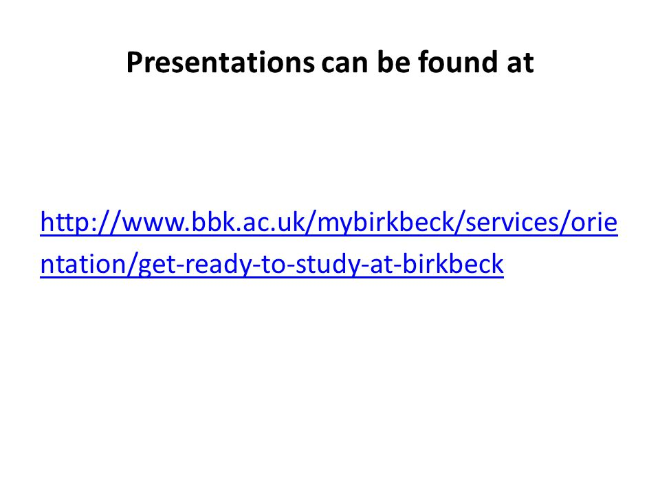 Presentations can be found at