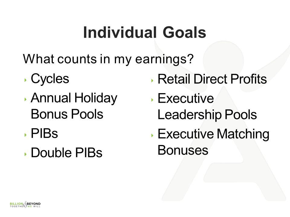 Individual Goals Cycles Retail Direct Profits