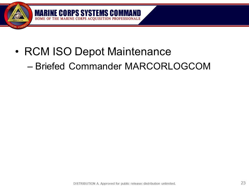RCM ISO Depot Maintenance