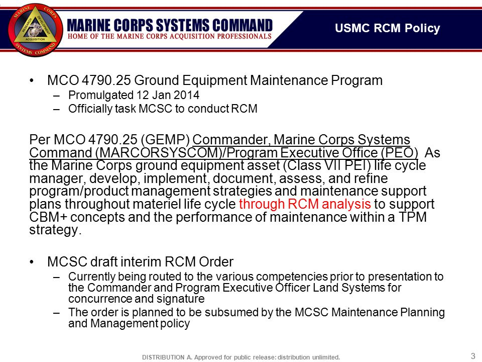 Usmc reliability centered maintenance ppt video online for Marine corps powerpoint template