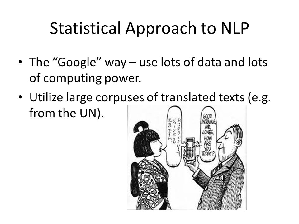 Statistical Approach to NLP