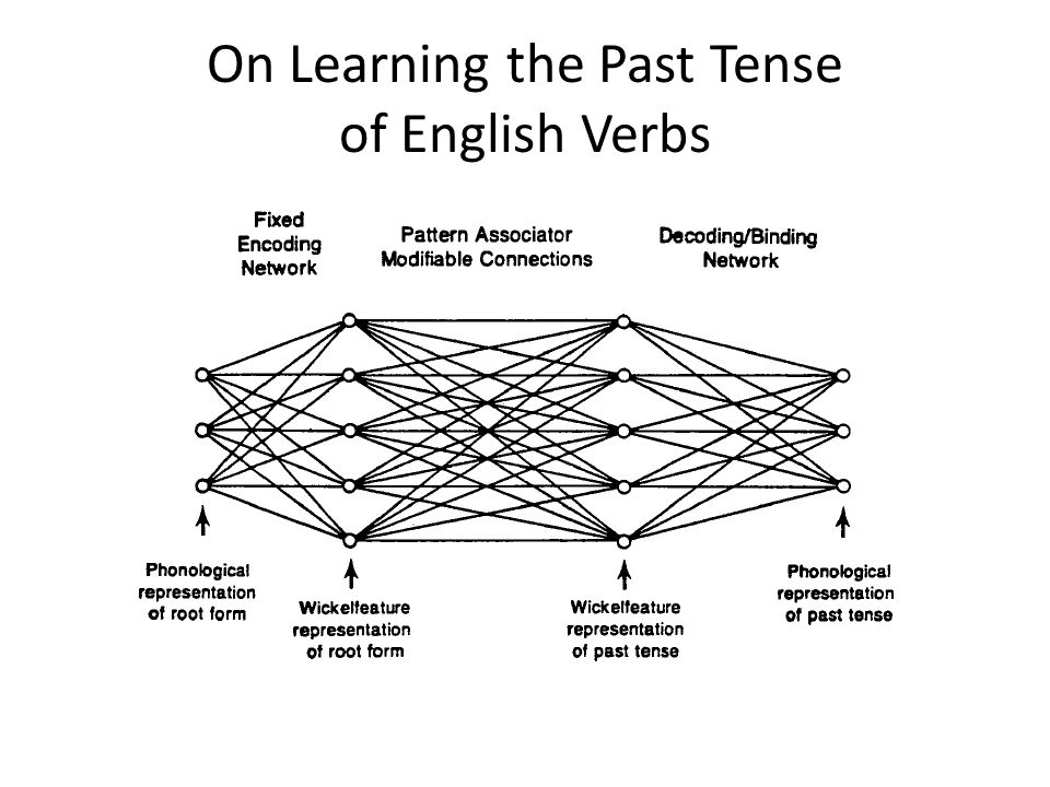 On Learning the Past Tense of English Verbs