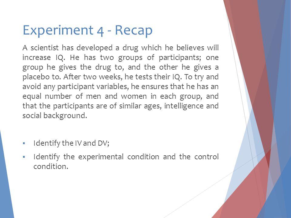 Experiment 4 - Recap