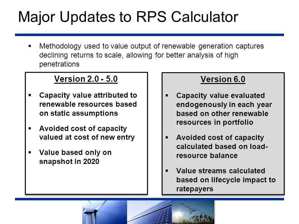 Major Updates to RPS Calculator