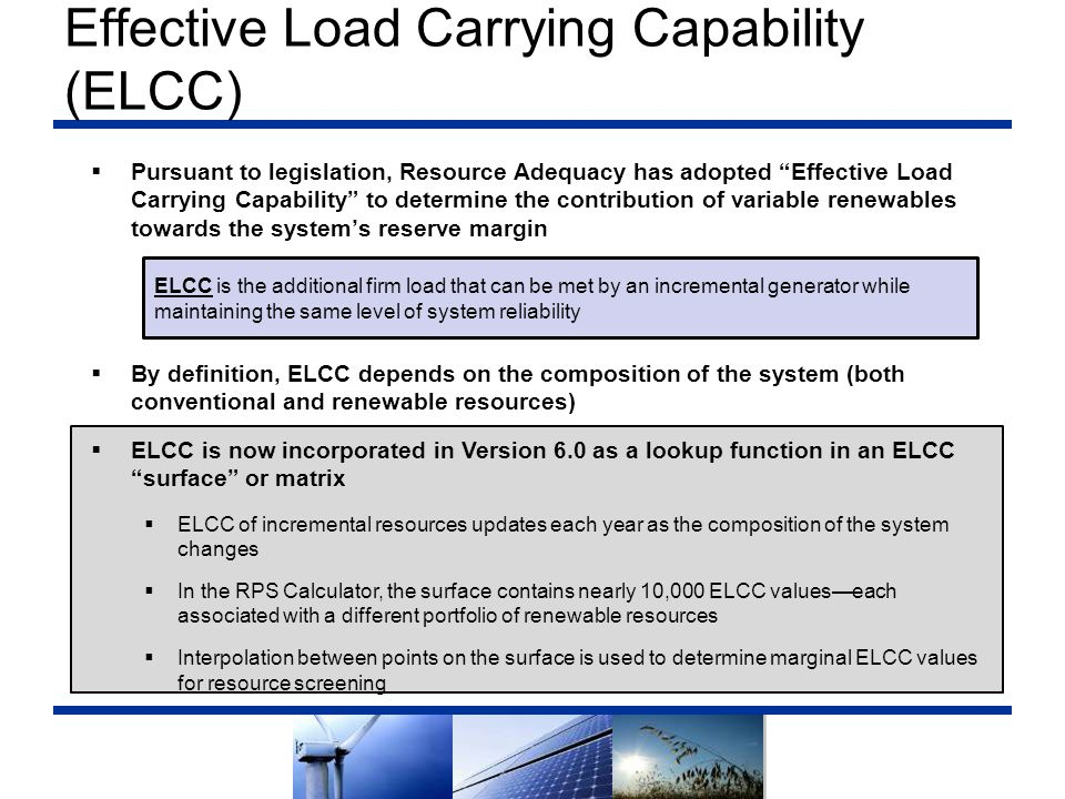 Effective Load Carrying Capability (ELCC)