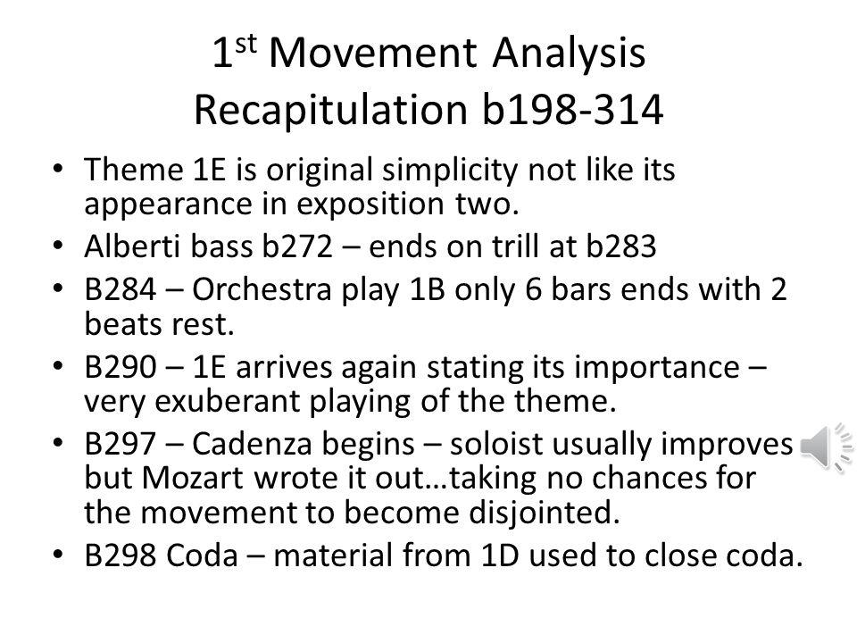 1st Movement Analysis Recapitulation b198-314
