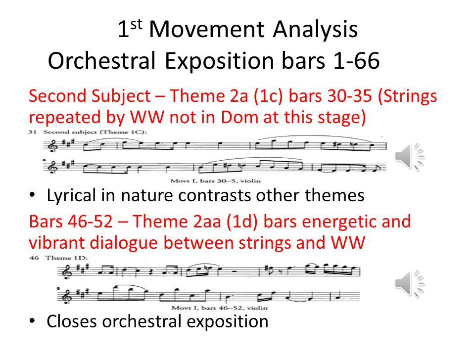 1st Movement Analysis Orchestral Exposition bars 1-66