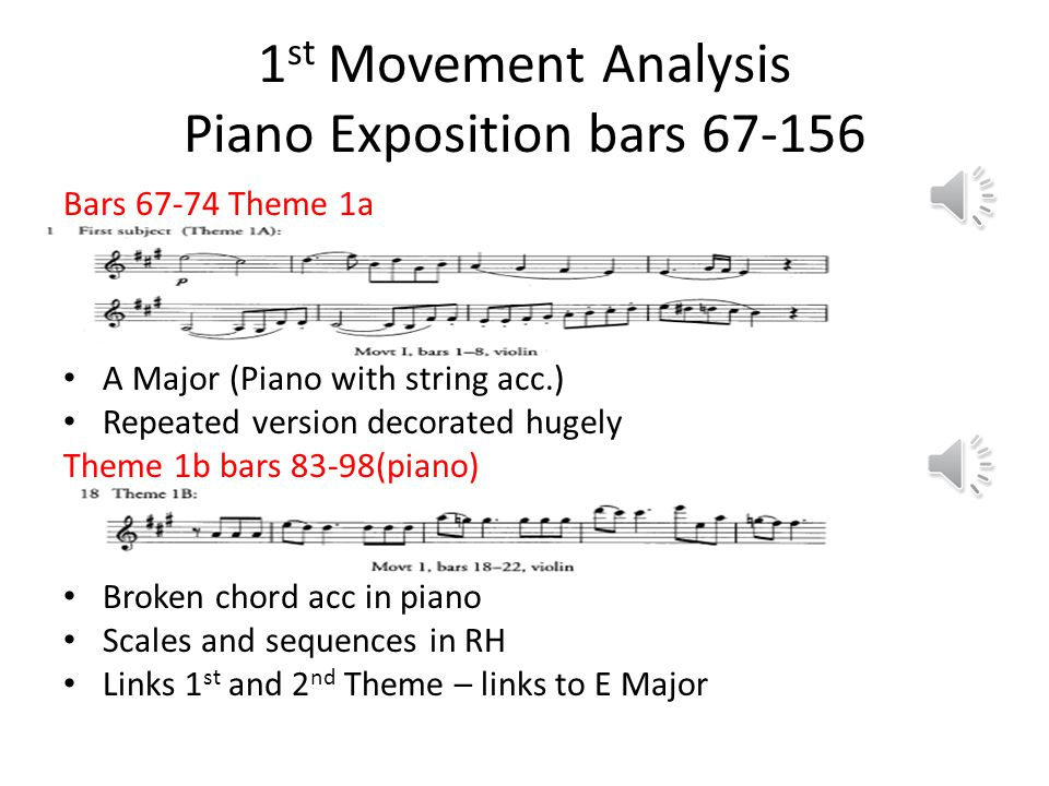 1st Movement Analysis Piano Exposition bars 67-156