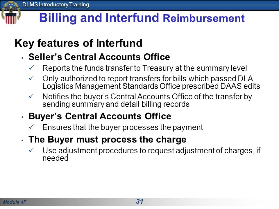 Billing and Interfund Reimbursement