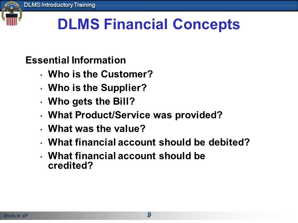 DLMS Financial Concepts