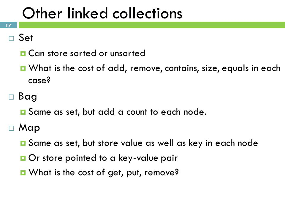 Other linked collections