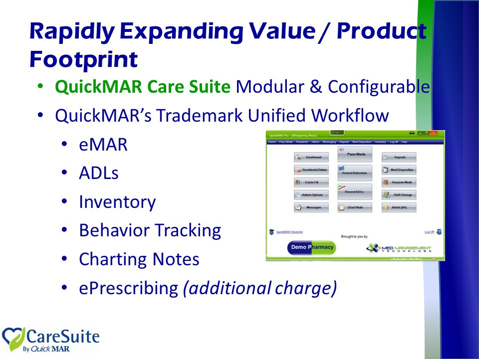 Rapidly Expanding Value / Product Footprint