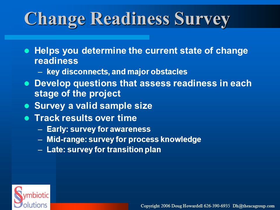Change Readiness Survey