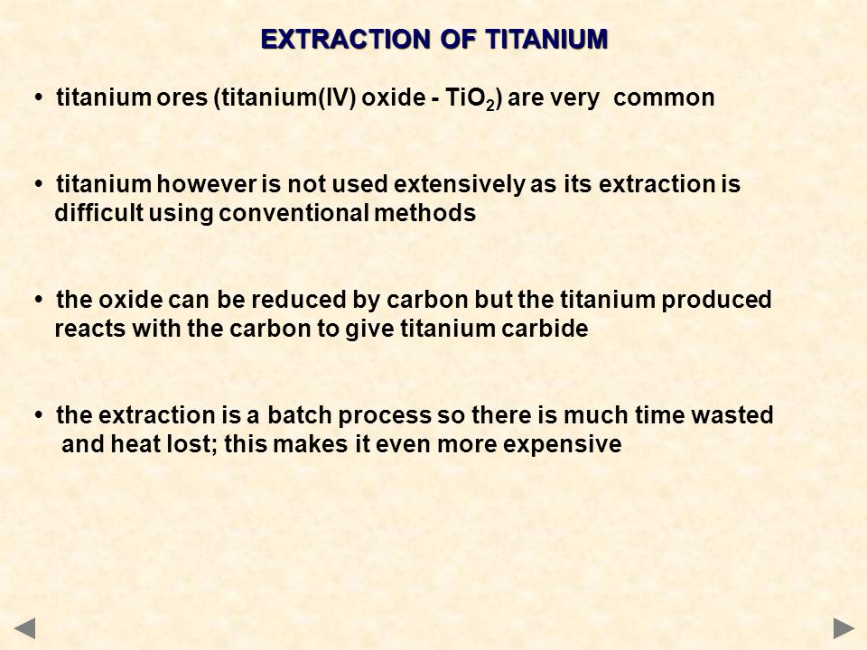 EXTRACTION OF TITANIUM