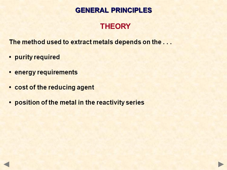 THEORY GENERAL PRINCIPLES