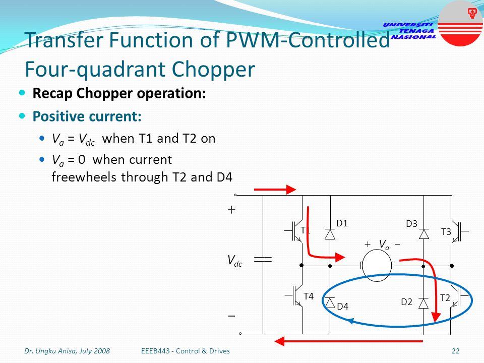 Transfer Function of PWM-Controlled Four-quadrant Chopper