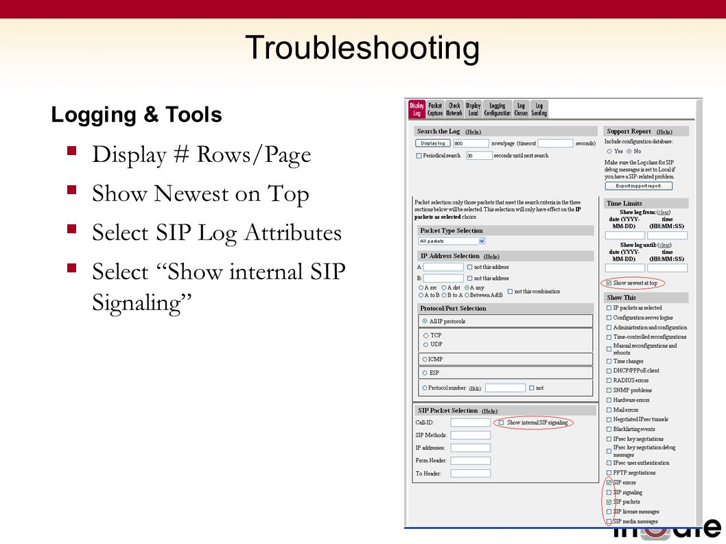 Troubleshooting Display # Rows/Page Show Newest on Top