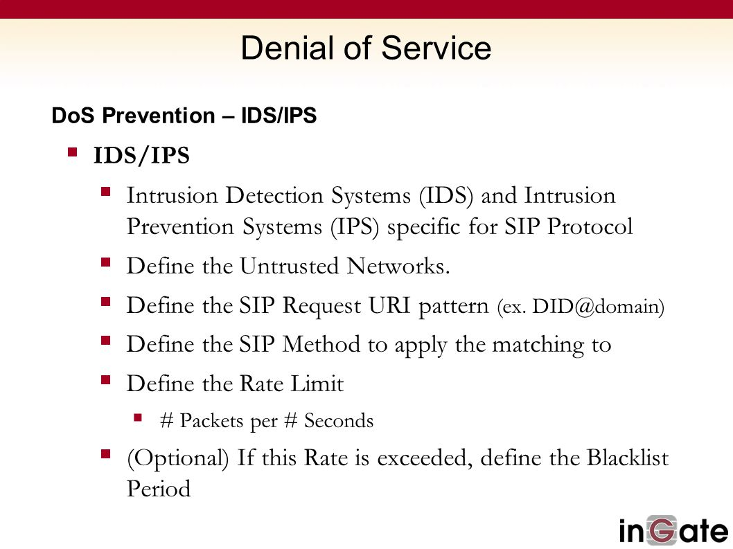 Denial of Service IDS/IPS