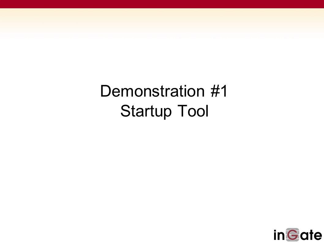 Demonstration #1 Startup Tool