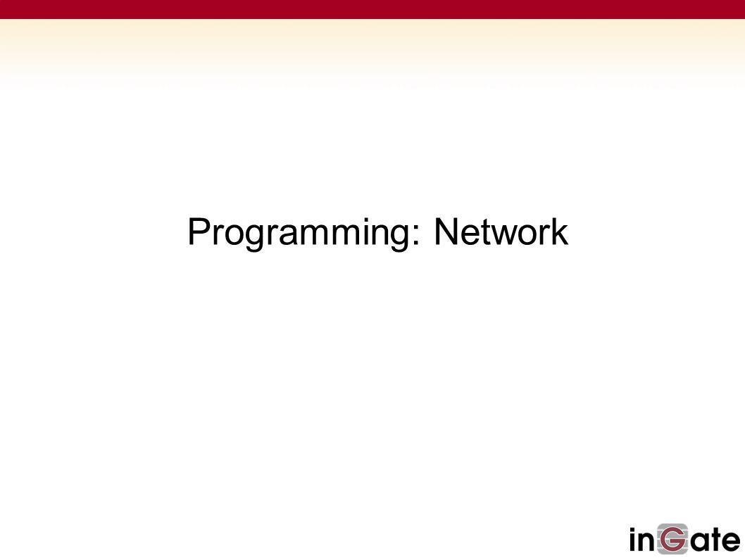 Programming: Network