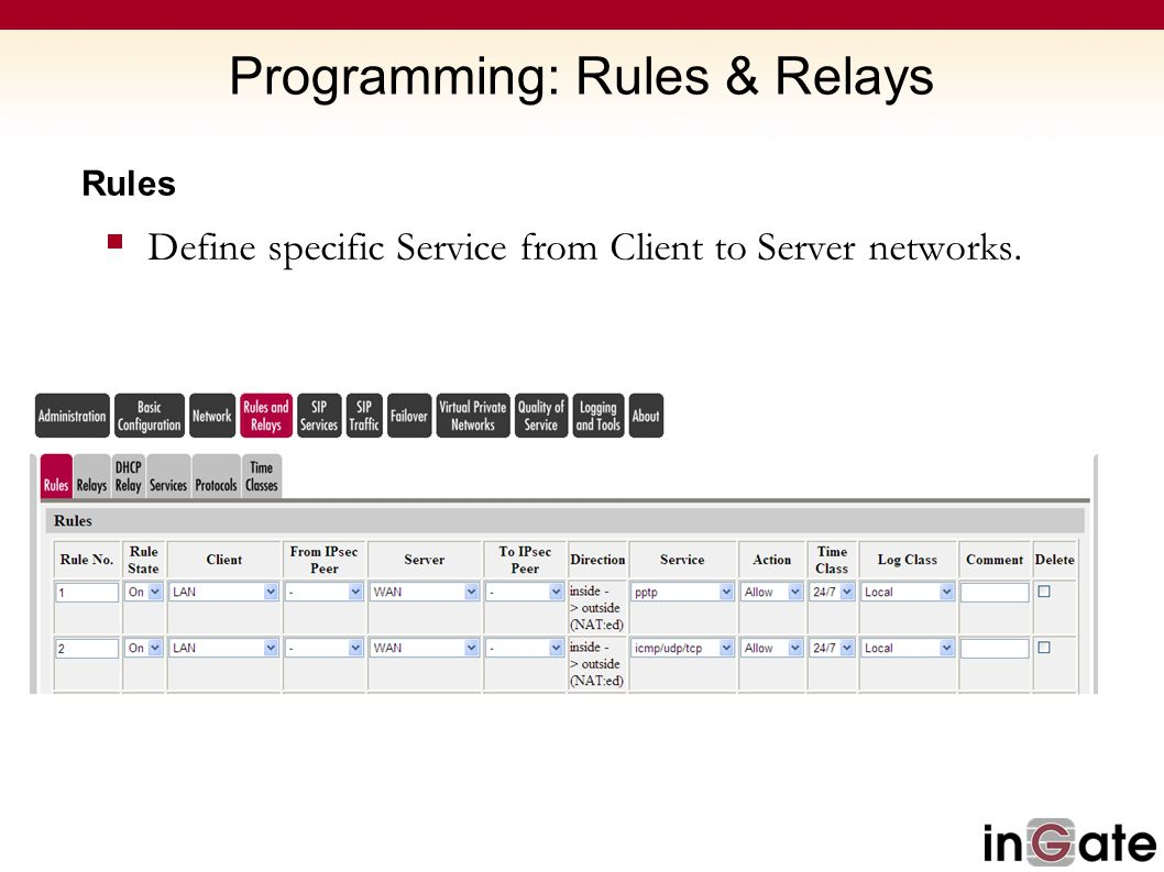 Programming: Rules & Relays