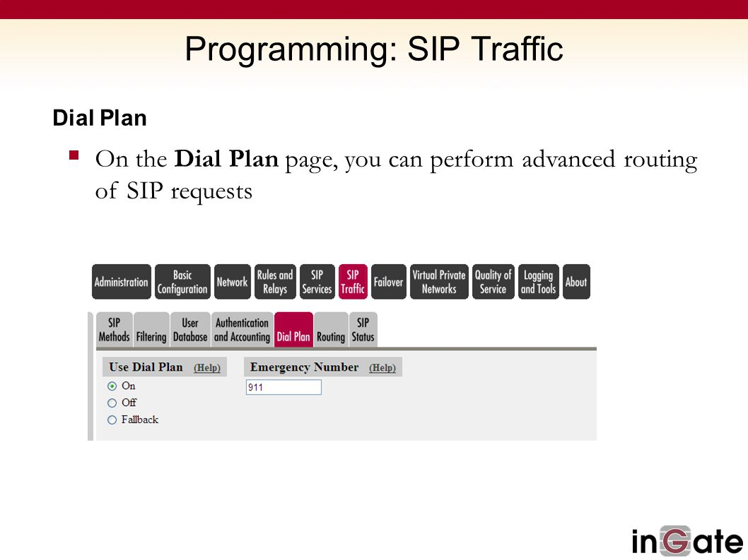 Programming: SIP Traffic