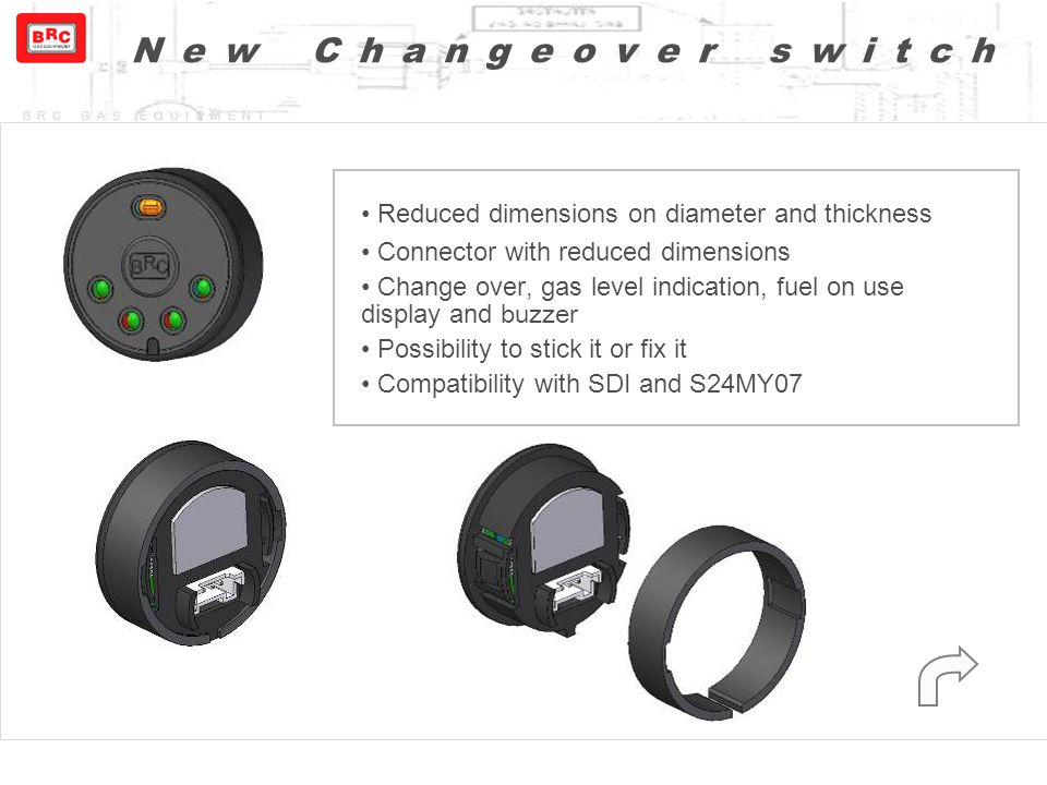 New Changeover switch Reduced dimensions on diameter and thickness