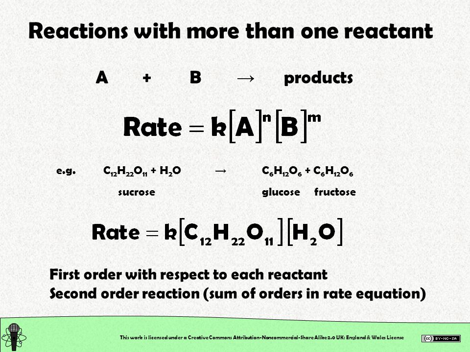 Reactions with more than one reactant