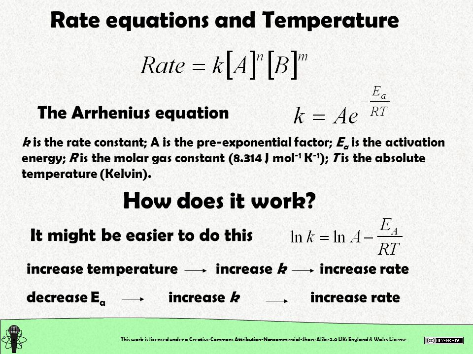 Rate equations and Temperature