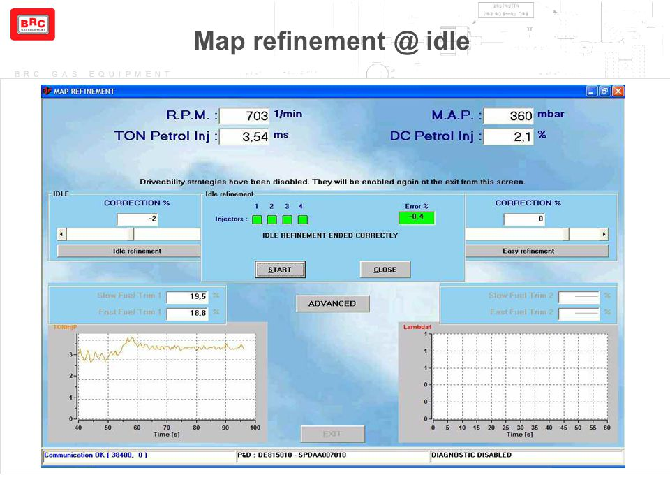 Map refinement @ idle