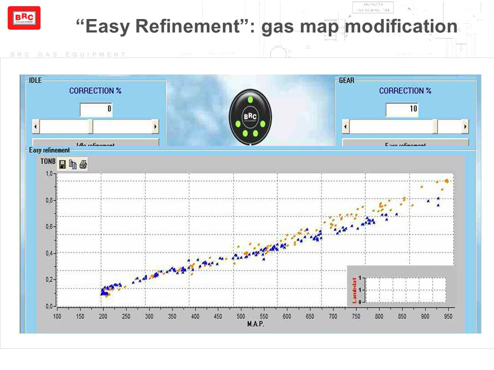 Easy Refinement : gas map modification
