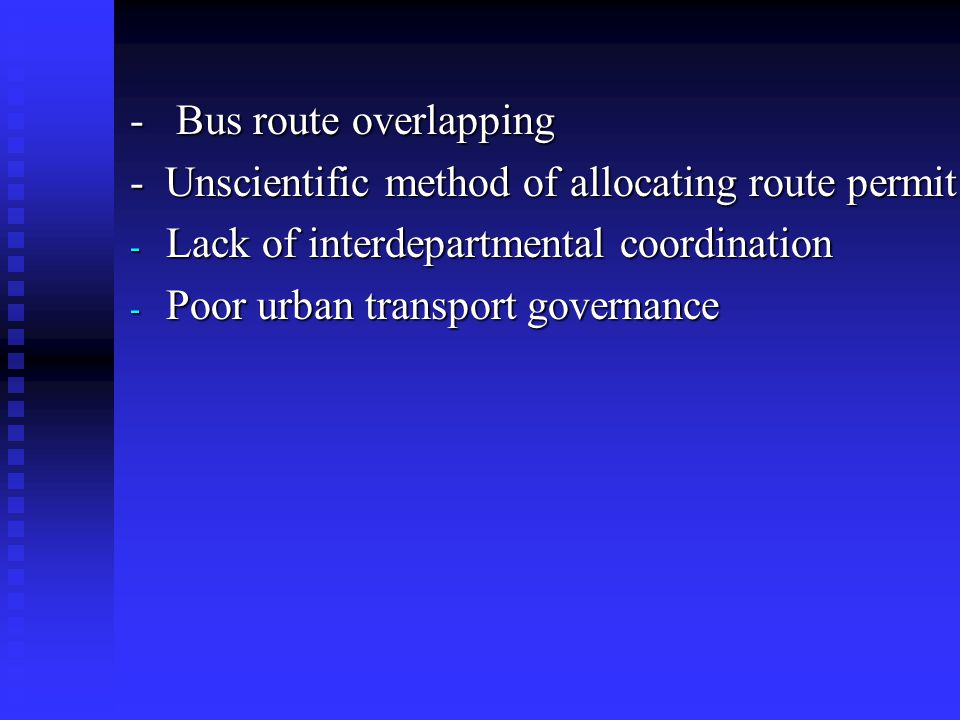 - Bus route overlapping