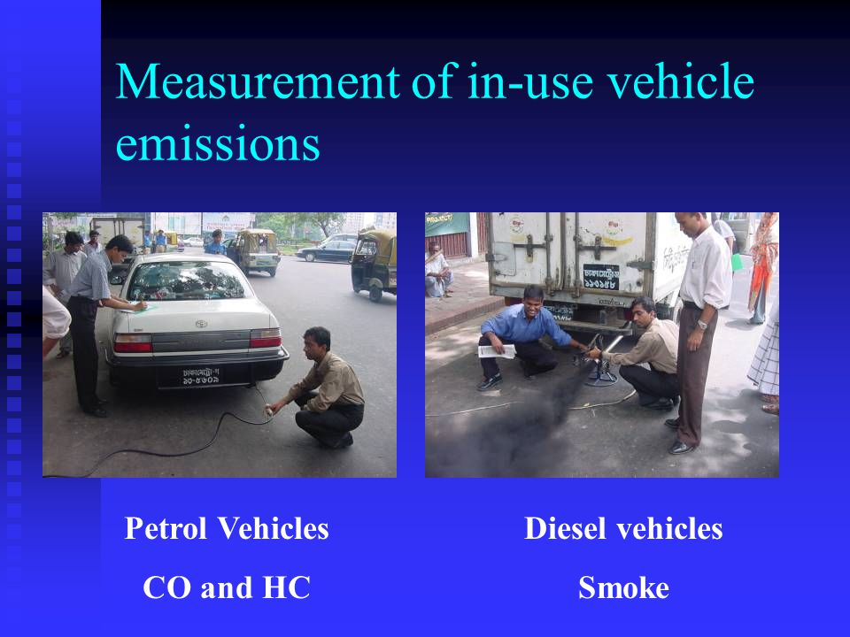 Measurement of in-use vehicle emissions