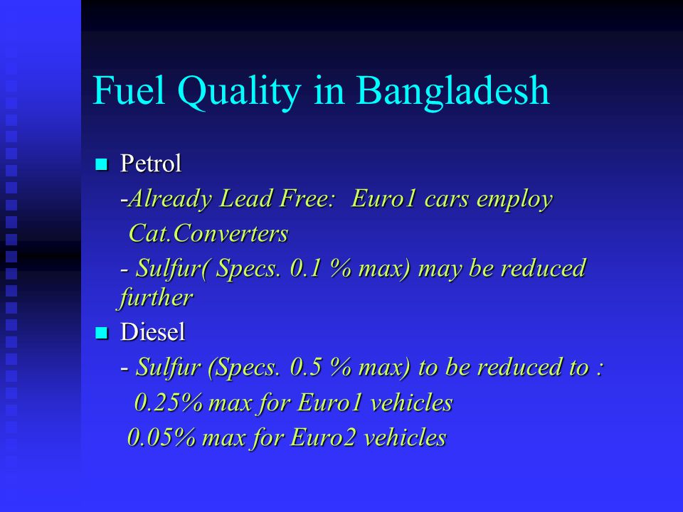 Fuel Quality in Bangladesh