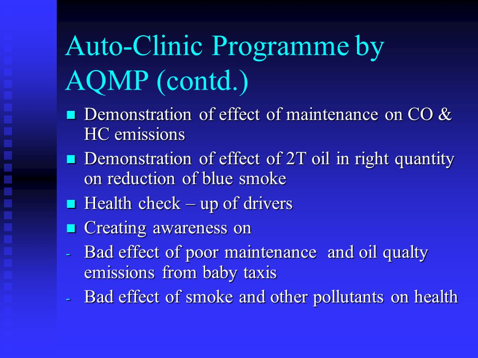 Auto-Clinic Programme by AQMP (contd.)