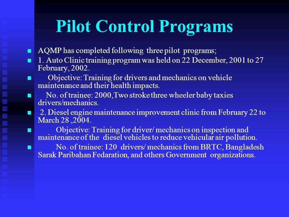 Pilot Control Programs