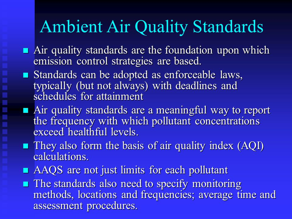 Ambient Air Quality Standards