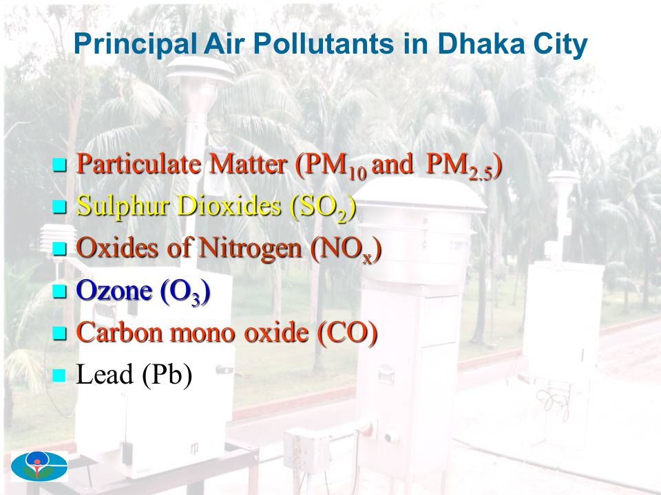 Principal Air Pollutants in Dhaka City
