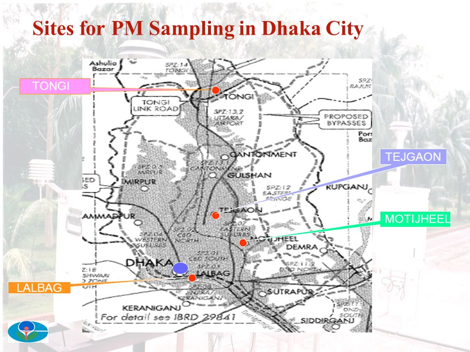 Sites for PM Sampling in Dhaka City
