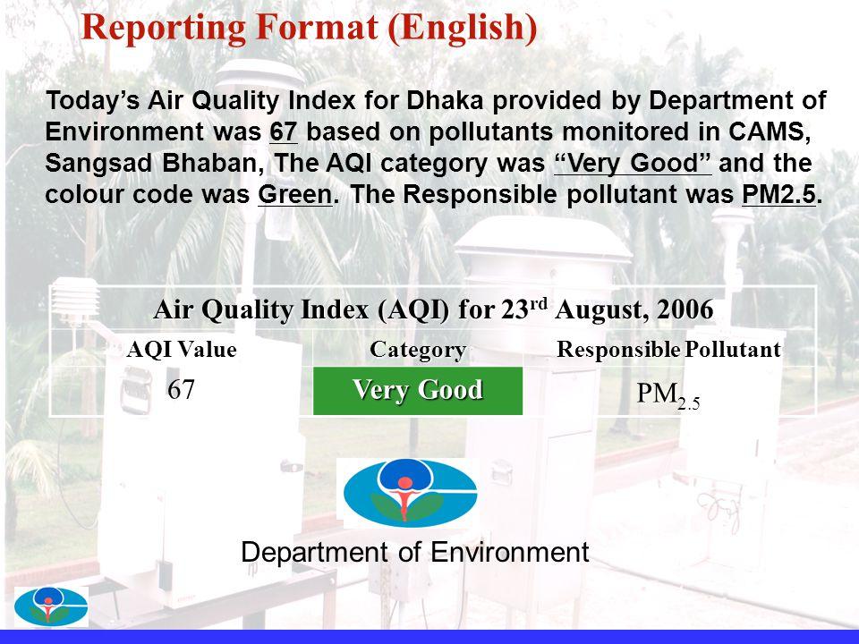 Reporting Format (English)