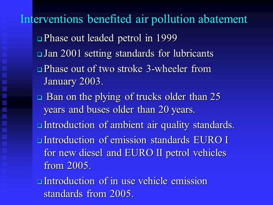 Interventions benefited air pollution abatement