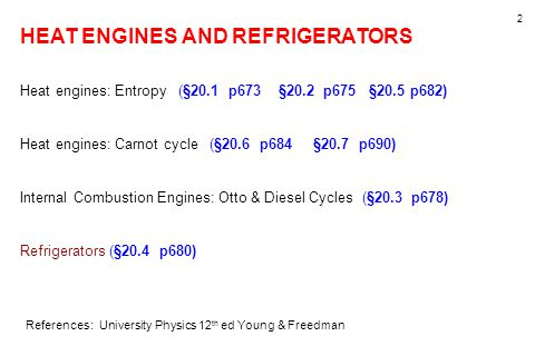 HEAT ENGINES AND REFRIGERATORS