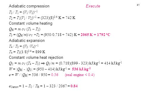 Adiabatic compression Execute