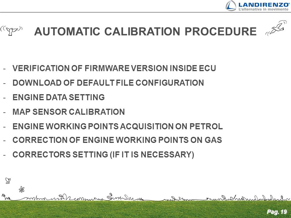 AUTOMATIC CALIBRATION PROCEDURE