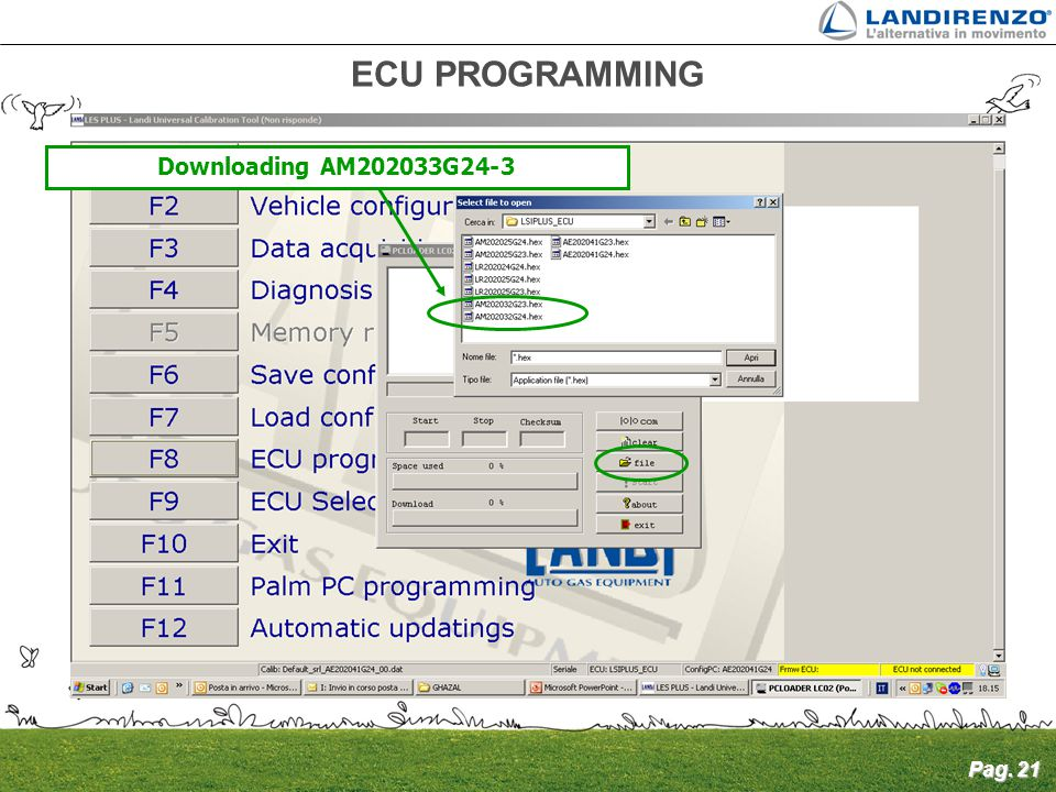ECU PROGRAMMING Downloading AM202033G24-3