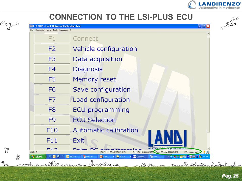 CONNECTION TO THE LSI-PLUS ECU